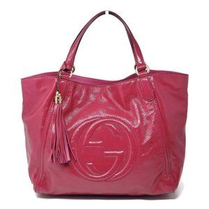 Gucci Soho Patent Leather Large Tote Shoulder Bag